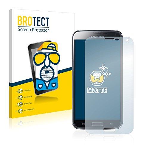 BROTECT 2X Entspiegelungs-Schutzfolie kompatibel mit Samsung Galaxy S5 Duos LTE SM-G900FD Displayschutz-Folie Matt, Anti-Reflex, Anti-Fingerprint