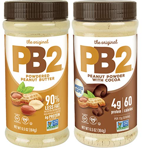 PB2 Bell Plantation Powdered Peanut Butter and with Premium Chocolate, 6.5 Ounce (Pack of 2)