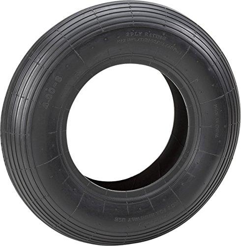 Metafranc Decke Ø 400 mm, für Luftrad - Rillenprofil - Typ 4.00 - 8 / Luftrad-Zubehör / Decke für Schubkarrenrad / Mantel / Reifen mit Rillenprofil / Ersatzdecke / Schubkarrenreifen / 810180