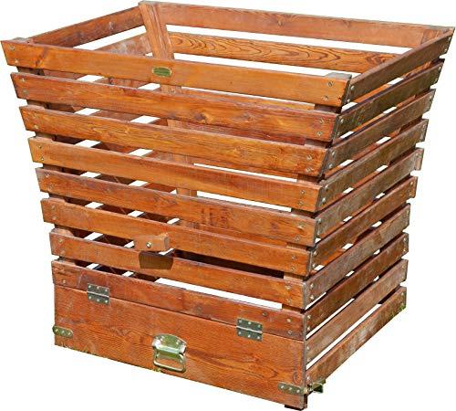 ASS Holz Komposter 1140/520 Liter Volumen extrem Stablil aus Lärche, Größe:520 Liter