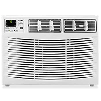 Della 10000 BTU Window Air Conditioner 1050W 115V/60Hz 12.1  EER  Energy Star Efficient Cooling Rooms up to 450 Sq Ft with 61 Pint/24hrs Dehumification Digital Display with Remote