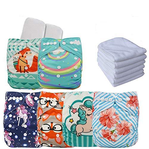 positionnement réglable Impression Unisexe en tissu pour bébé couches de poche avec chiffon doux daim Intérieur Insert