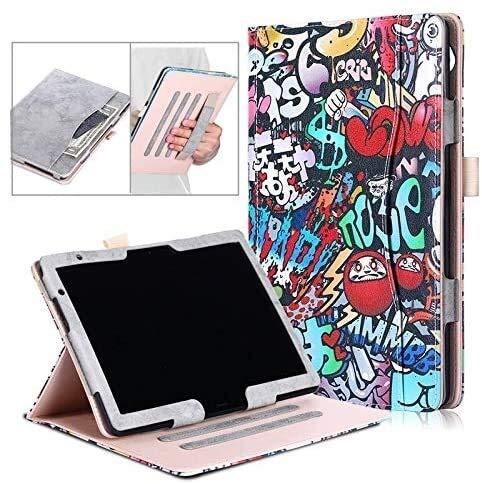 YNLRY Tab Accesorios para Huawei MediaPad M5 Lite BAH2-W19/L09/W09 10.1 Pulgadas Tablet Cuero Funda Folio Libro Funda para Huawei Mediapad T5 10' (Color: Azul Oscuro)