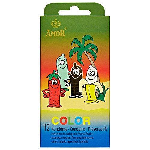 AMOR® 'Color' 12 preservativos masculinos