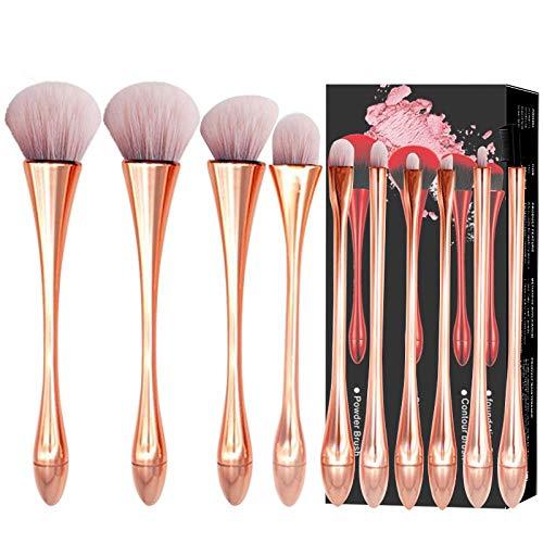 Ensemble De Pinceaux De Maquillage Pinceau Net Ins Rouge Outil Blush Sac De Tube De Stockage Portable, 3