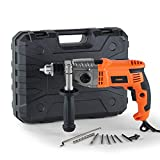 VonHaus Impact Hammer Drill 1200W with Two Speed Selector for Masonry, Brick, Metal