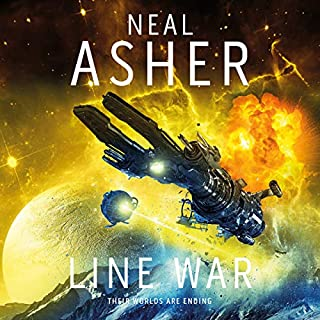 Line War     Agent Cormac, Book 5              By:                                                                                                                                 Neal Asher                               Narrated by:                                                                                                                                 Ric Jerrom                      Length: 21 hrs and 8 mins     64 ratings     Overall 4.7