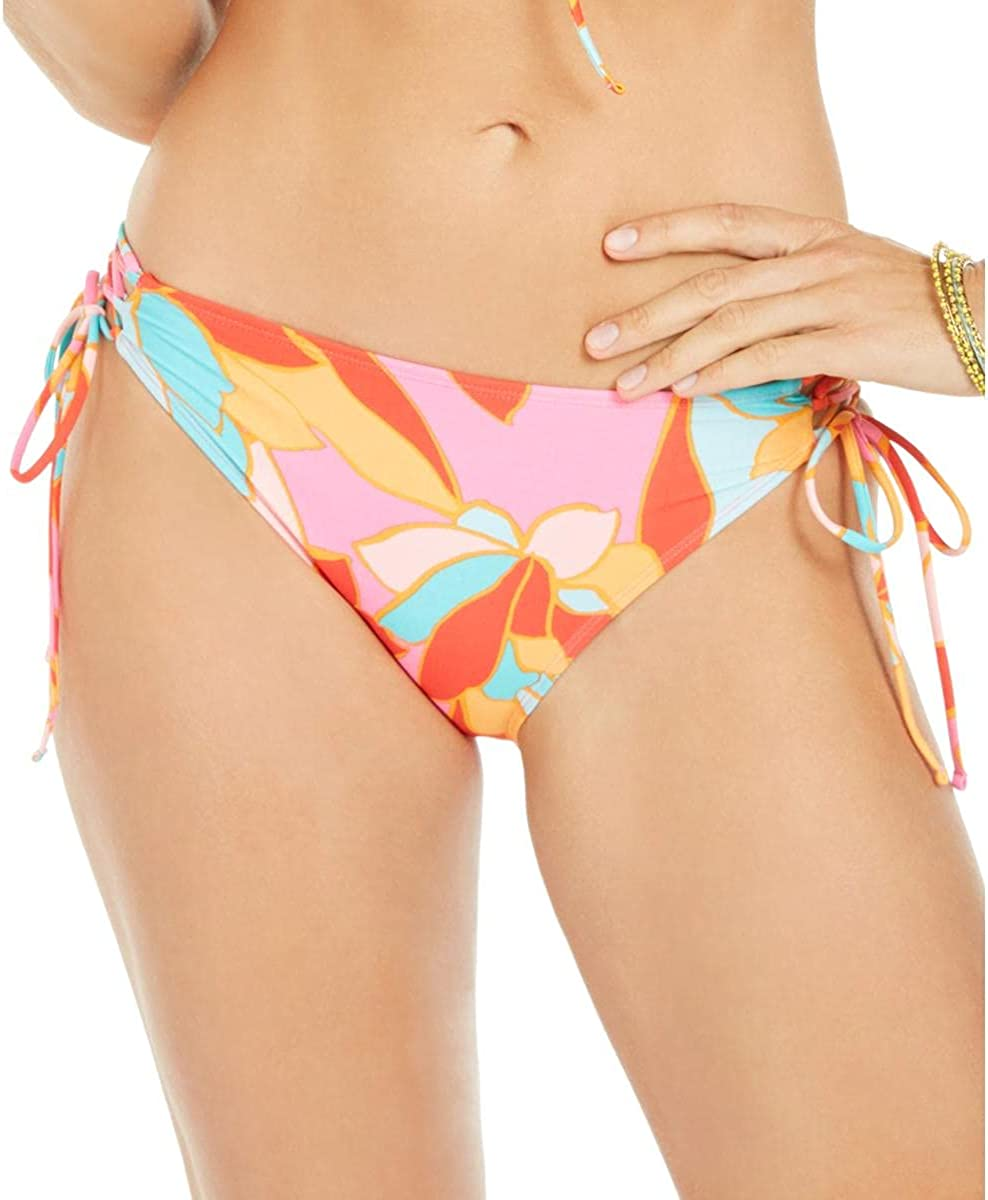 Hula Honey Womens Garden Party Printed Side Tie Swim Bottom Separates