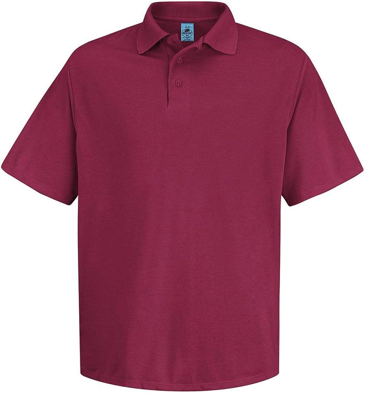 Red Kap Men's Big Short Sleeve no Pocket Polo Shirt, White, 2X-Large