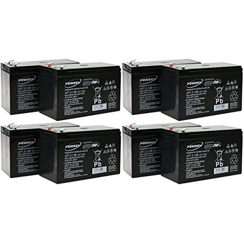 Powery Batería de Gel para SAI APC Smart-UPS XL 3000 RM 3U