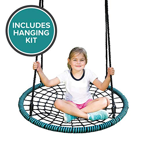 Play Platoon Spider Web Tree Swing with Hanging...