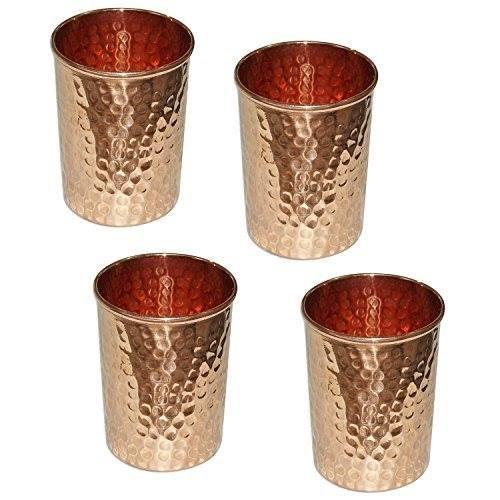 Vaso de cobre puro martillado para accesorios de vajilla de productos ayurvédicos...