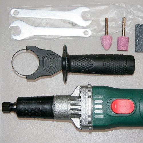 Spindelschleifmaschine 600 Watt mit Drehzahlregler, Zubehör, Geradschleifer