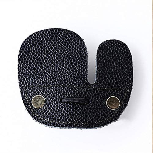 Bostar Protector de Protección de Dedos de Tiro con Arco de Cuero de Grano Completo para Arcos Recurvos, Equipo de Práctica de Tiro, Accesorios para Deportes de Caza, Guante de Piel para Lazos Rectos