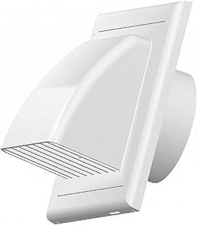 Lüftungsgitter Abluft Zuluft Abzugsverkleidung Rückstauklappe Durchmesser 125 mm weiß ABS Aussenhaube