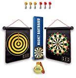 Nutvok Magnetic Dart Board for Indoor, Outdoor Games, Double-Sided Rollup Dart Board, 6pcs Magnetic Darts, Best Shooting Games, Family Games, Toys Gifts, Outdoor Toys for Kids, Gifts for Teenage Girls