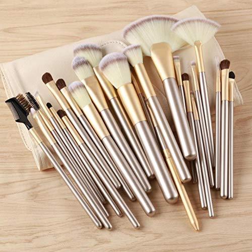 Maquillage Brush Set,24 poudre de fondation professionnelle fard à paupières fard à paupières kabuki mélange maquillage beauté outils de beauté, 24 pièces d'encens