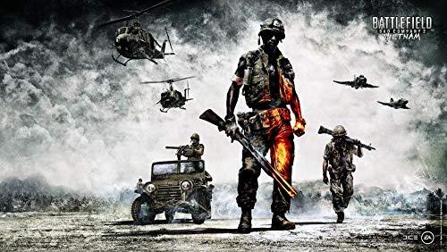 XYDH Puzzle De Madera De 1000 Piezas para Adultos.Battlefield Bad Company 2 – Rompecabezas De Madera Real De 50x70CM con 1000 Piezas para Adultos Y Familias