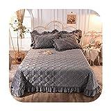 Colcha de 3/5 piezas con fundas de almohada acolchada suave y cálida funda de cama, color azul marino, para cama individual y doble, color 5 – 240 x 250 cm, 5 piezas
