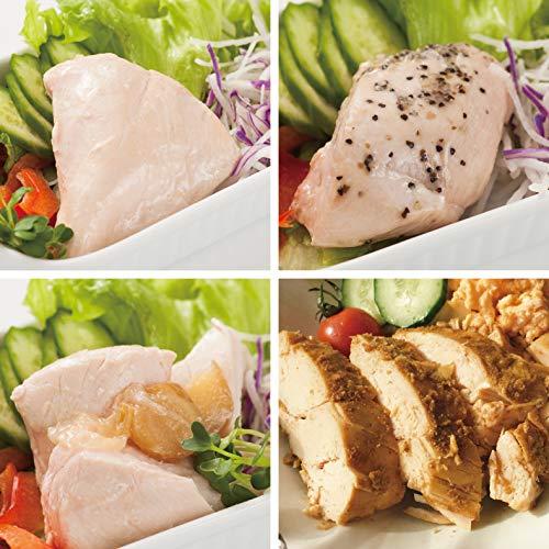 uchipac サラダチキンセット【非常食 高たんぱく質食品】 国産鶏胸肉使用 保存料無添加・常温保存 賞味期限 1年 4種類×2個 8パックセット