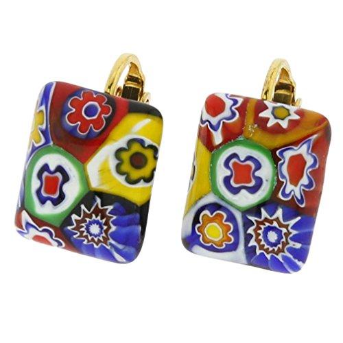 GlassOfVenice Women's Color Splash Clip Earrings - Multi