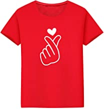 Clement Attlee Family Clothes Father Heart Love Printing O-Neck Solid Color T-Shirt Tops Clothes Matching Family Tee