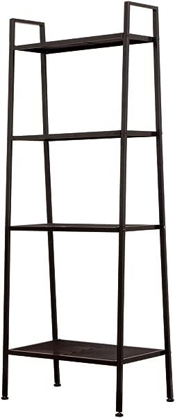 WDDH 4 Shelf Ladder Bookcase Vintage Bookshelf Industrial Ladder Shelf Plant Flower Stand Storage Shelves Rack Industrial Accent Home Office Furniture For Office Bathroom Living Room