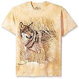 The Mountain Herren Winter Wolf Portrait T-Shirt, hautfarben, X-Groß