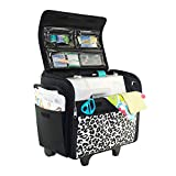 Best Premier Rolling Machines - Everything Mary Cheetah Print Collapsible Rolling Sewing Machine Review