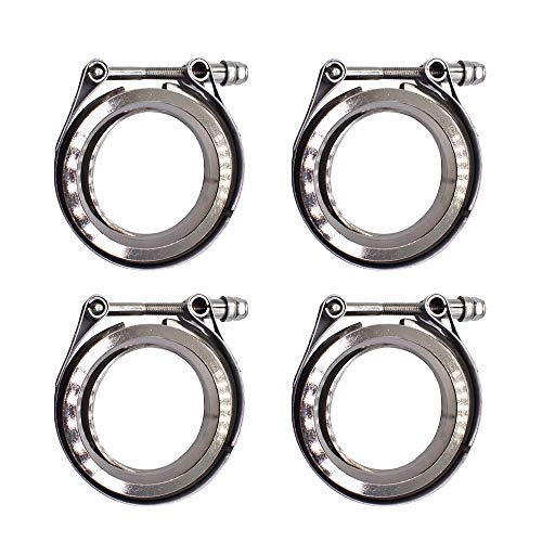 """labwork 4Pcs 2.5"""" V-Band Flange and Clamp Kit for Turbo Exhaust Downpipes"""