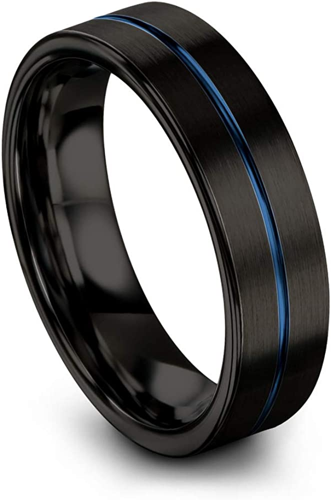 Chroma Color Collection Tungsten Carbide 6mm 25% OFF Wedding Max 65% OFF Ring Band f