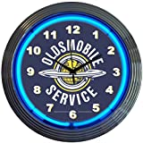 Neonetics Cars and Motorcycles Oldsmobile Service Neon Wall Clock, 15-Inch