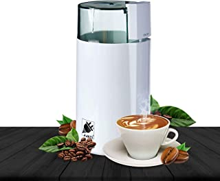 J-Jati Electric Coffee Grinder Mill with Large Grinding Capacity and HD Motor /Spices, Herbs, Nuts, Grains and More and More, White