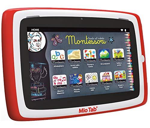"""Liscianigiochi-Mio Tab 7"""" Preschool 2019 Tablet per Bambini, Colore Rosso, 7"""", 77373"""