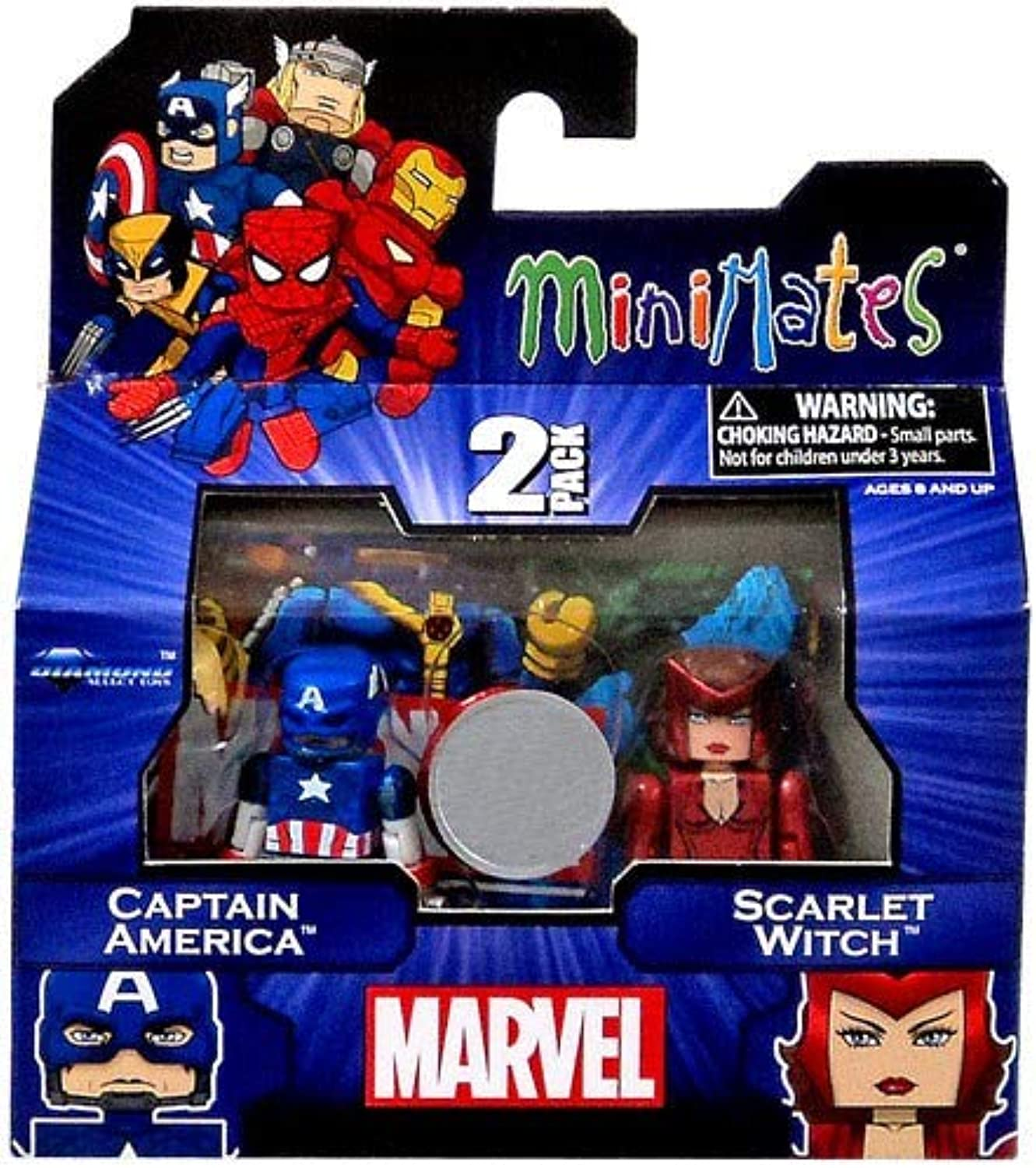 Marvel Minimates Assortments  Captain America Scarlet Witch by Diamond Select