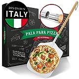 Pala de pizza Pizza Divertimento - Pala para pizza de aluminio inoxidable [83 cm] - Rosca práctica y sólida - pala para pizza de bordes redondeados