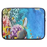 15 Inch Laptop Sleeve Briefcase Beautiful Underwater World Fish Coral Reef Neoprene Waterproof Handbag Protective Bag Cover Case for Surface Laptop/Notebook/Acer/Asus/Dell/Lenovo/iPad/Surface Book