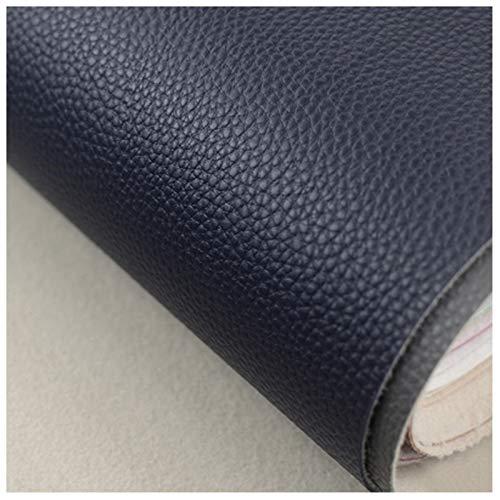 Tela de Polipiel para Tapizar Tela de Imitación de Cuero Parche Cuero Azul Celeste Ancho 138cm para Sofá Asiento de Coche Muebles Chaquetas Bolso Polipiel para Tapiza(Size:1.38x5m,Color:Azul C