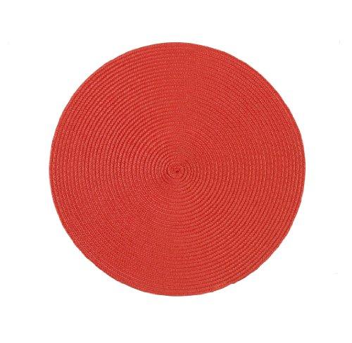 Stuco trends textile 2003-1 4er Pack, Tischset Rund 35 cm, 100% Polypropylen, rot