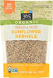 365 Everyday Value, Organic Sunflower Kernels, Roasted & Salted, 12 oz