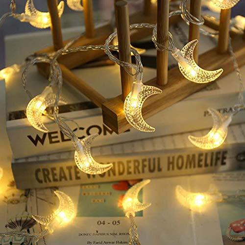 HDZBB Moon Led String Lights Holiday Lighting Fairy Garland For Christmas Tree Wedding Party Ramadan Decoration
