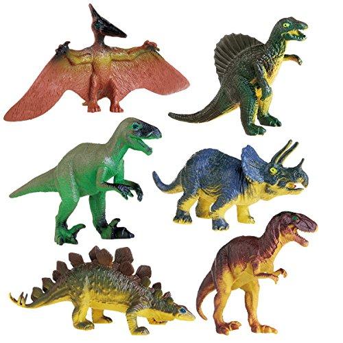 Toyvian 6pcs Kinder Dinosaurier Spielzeug pädagogische Tier Figuren Modell Spielzeug