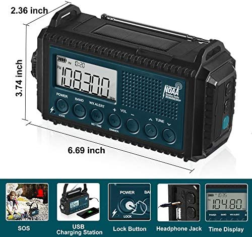 5000mAh Hand Crank Solar Emergency Radio
