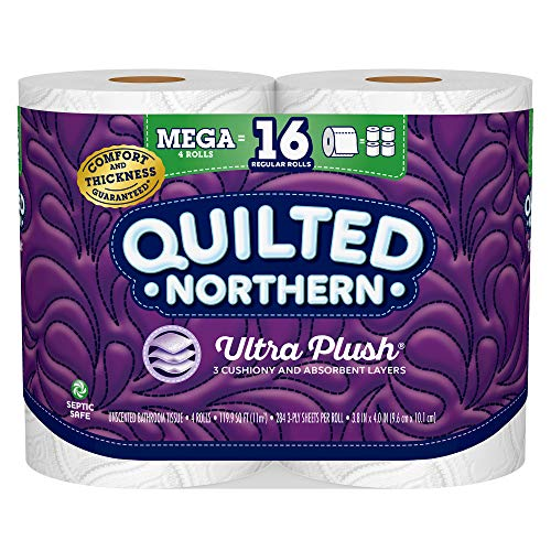 Quilted Northern Ultra Plush Toilet Paper, 4 Mega Rolls