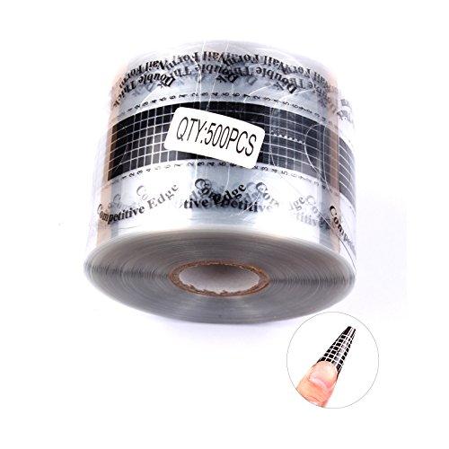 FingerAngel - 500 unidades de tips para uñas de gel UV acrílico, autoadhesivas.