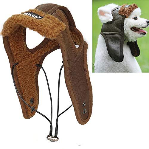 Egurs Hunde Mütze Winter Warm Hut für Kleine Mittel Groß Hunde S