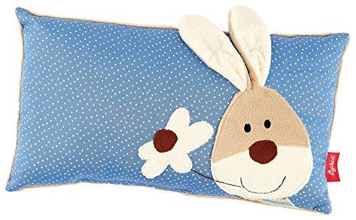 sigikid, Mädchen und Jungen, Schmuse-Kissen Hase, Semmel Bunny, Blau/Beige, 40992
