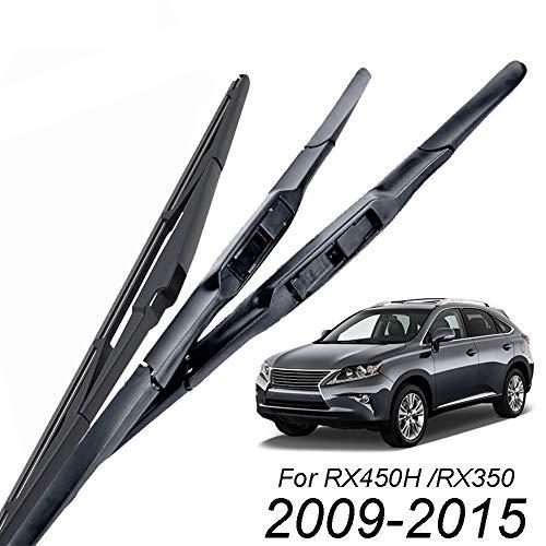 ZYDSD Limpiaparabrisas Cuchillas fijado for el Lexus RX450h RX350 RX 450h-RX350 Ventana Delantera Trasera 2009 2010 2011 2012 2013 2014 2015