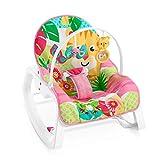 Fisher-Price - Hamaca Crece Conmigo Rock and Roar, Silla para Bebé (Mattel GNV70), Embalaje estándar