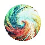 Yonwangzhiqian Teppich-Bunte Zyklon-Wolldecke-hängende Stuhl-Matte Jazz-Trommel-Auflage waschbare Yoga-Teppiche runde Teppiche Meditations-Kissen (Color : Cyclone, Size : 100CM)